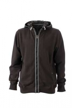 Herren Men´s Hooded Jacket, schwarz