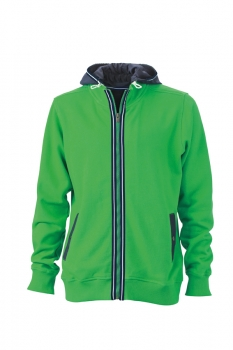 Herren Men´s Hooded Jacket, fern-green/navy