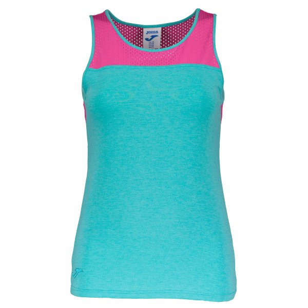 T-SHIRT TURQUOISE-PINK S/S