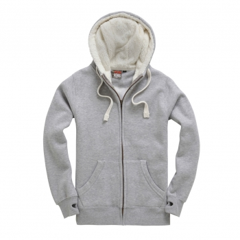 Cotton Ridge F15 Sherpa Fleece Zip Hoodie-Peach Finished